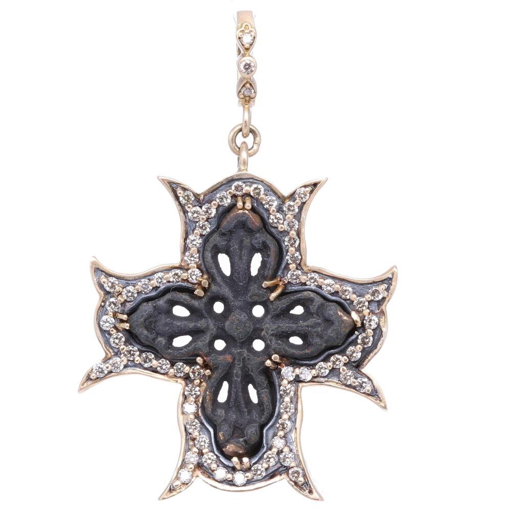 Intricate Artifact Cross Pendant