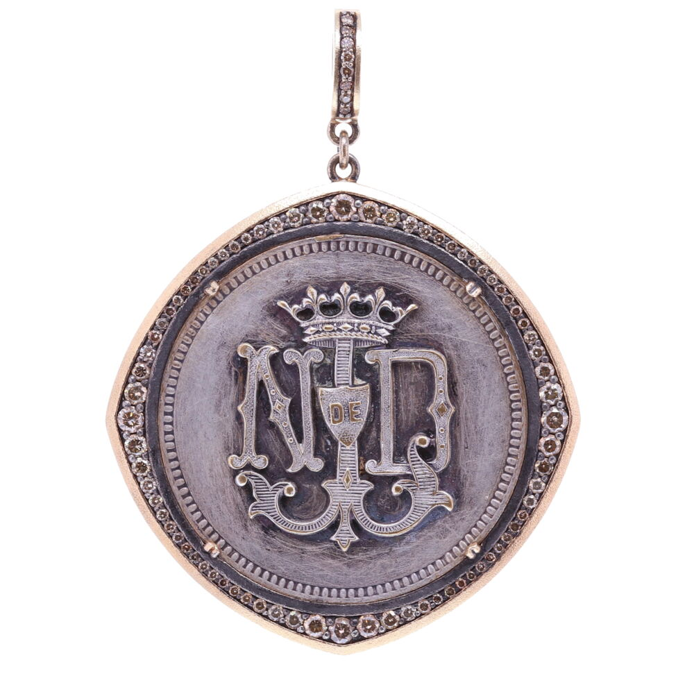 French Notre Dame Medal with Mariner's Cross