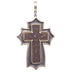 Closeup photo of Old Believer Male Cross Pendant