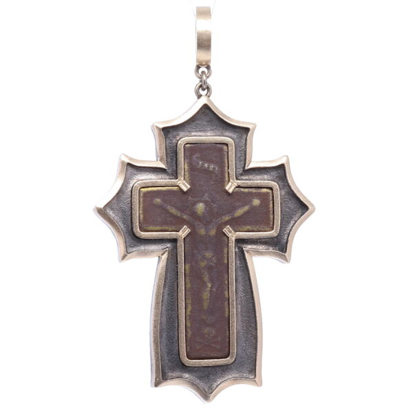 Closeup photo of Old Believer Male Cross Pendant
