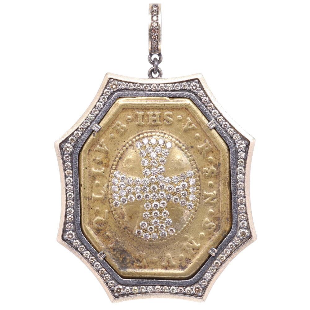 St. Benedict Diamond Cross Pendant