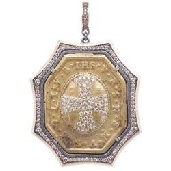 Closeup photo of St. Benedict Diamond Cross Pendant