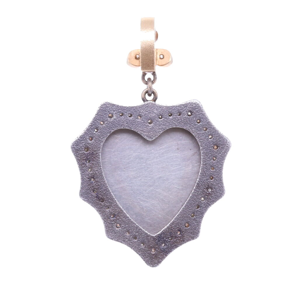 Image 2 for French Notre Dame Heart Pendant