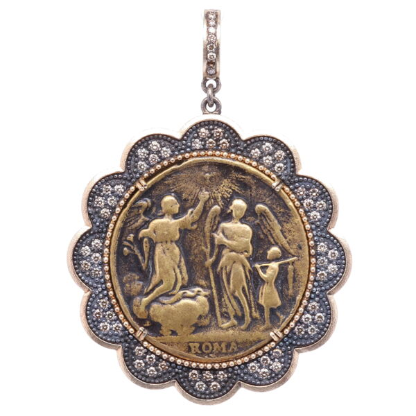 Closeup photo of Roma Guardian Angel Pendant