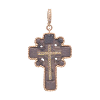 Closeup photo of Ancient Orthodox Cross