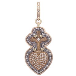 Closeup photo of Latin Sacred Heart Pendant