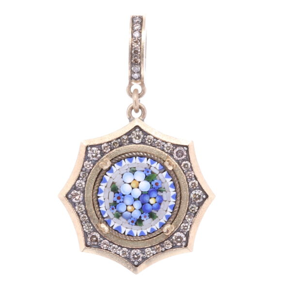 Closeup photo of Micro Mosaic Floral Pendant