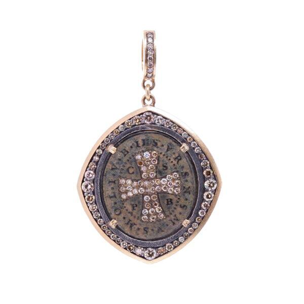 Closeup photo of St. Benedict Artifact Pendant