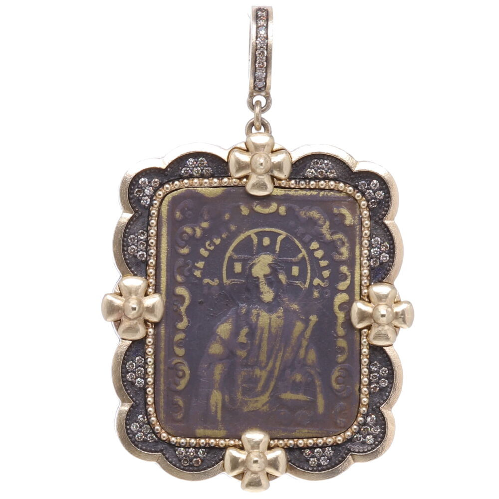 Antique Russian Resurrection Icon Medal