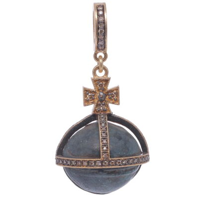 Closeup photo of Antique Bell with Cross Pendant