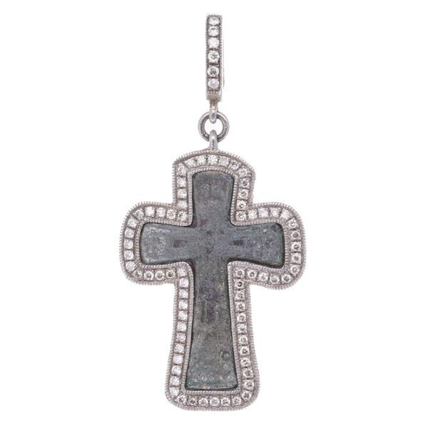 Closeup photo of Mini Byzantine Cross Pendant