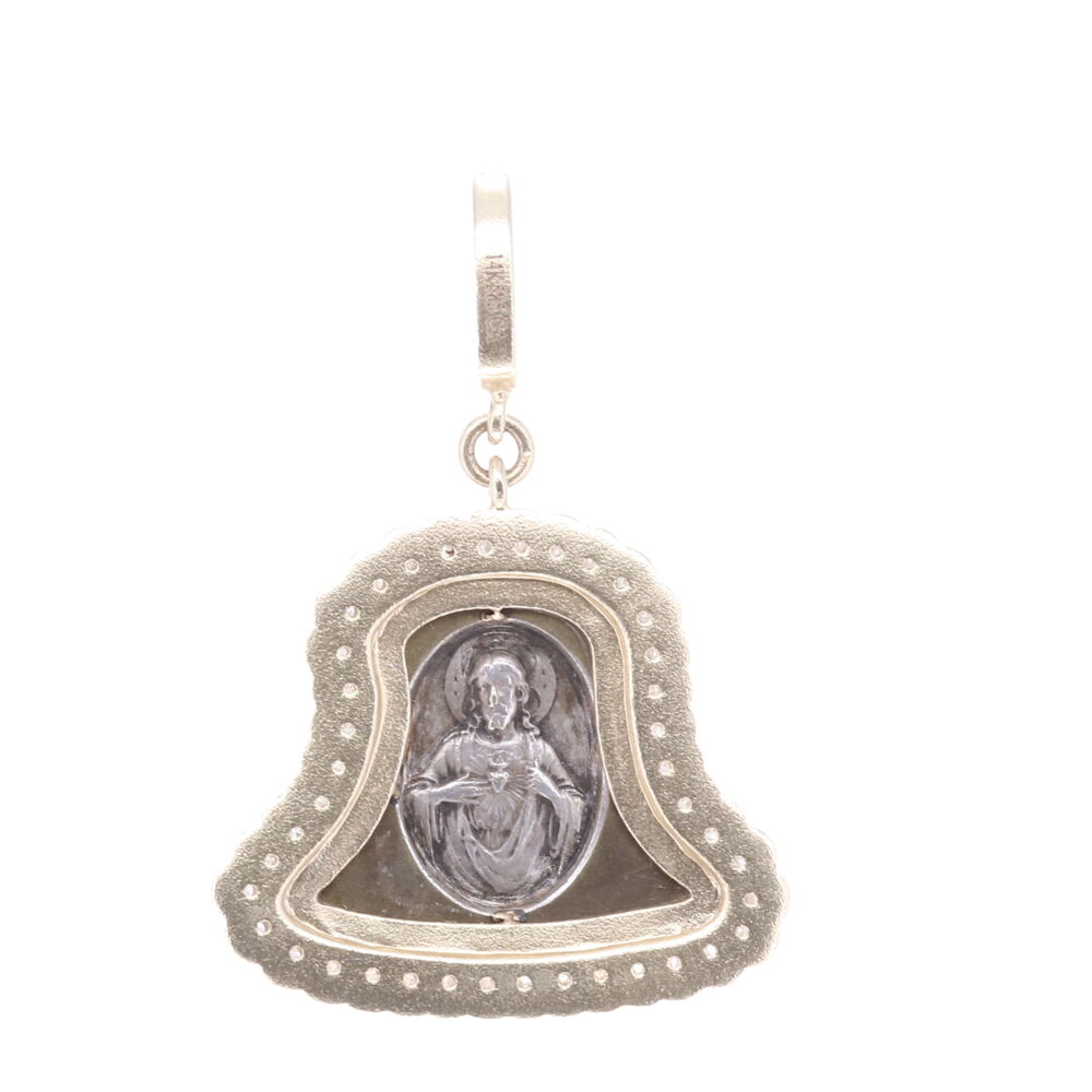 Image 2 for Antique Bell Pendant with the Sacred Heart