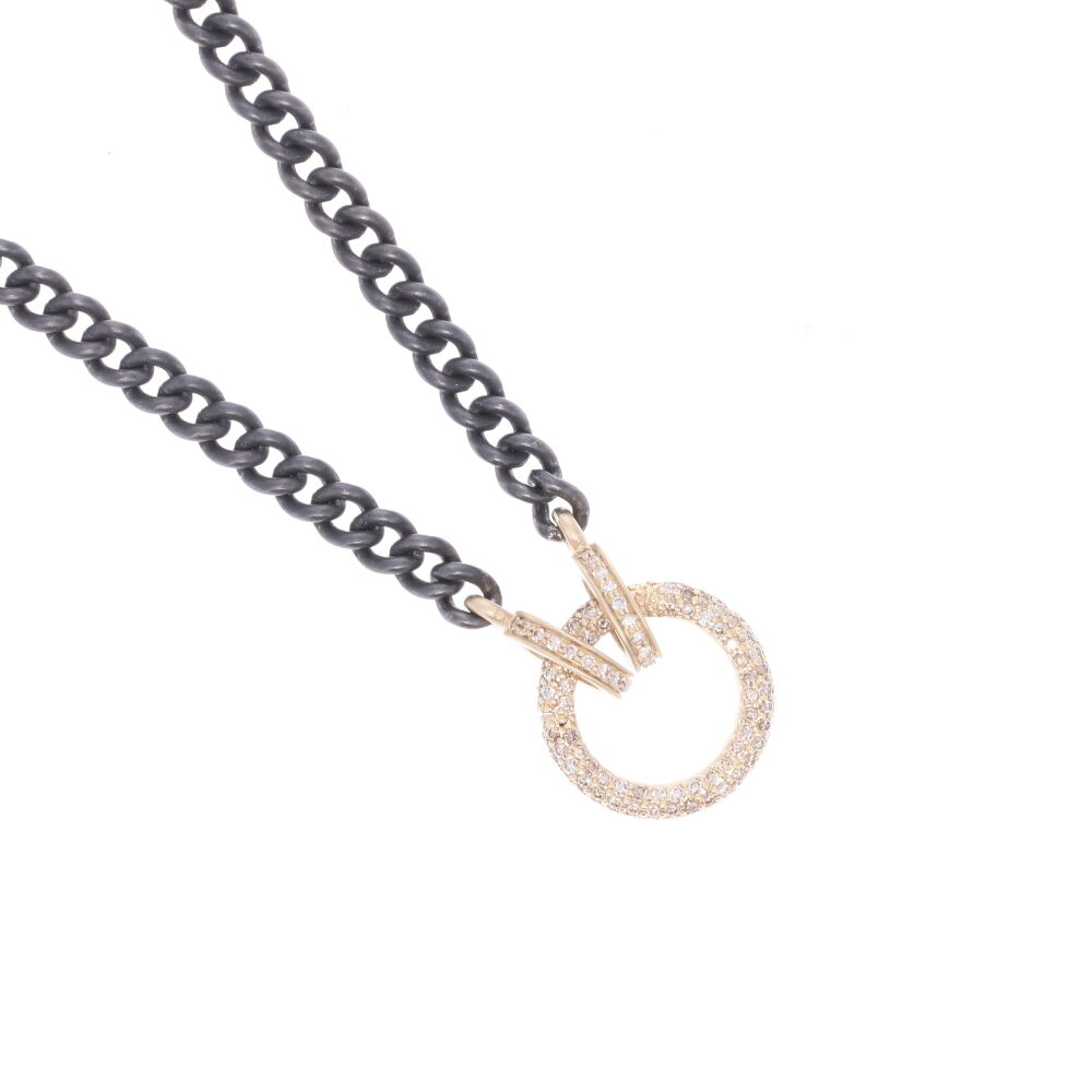 Image 2 for Classic Diamond Ring Display Necklace with Open-able Ring
