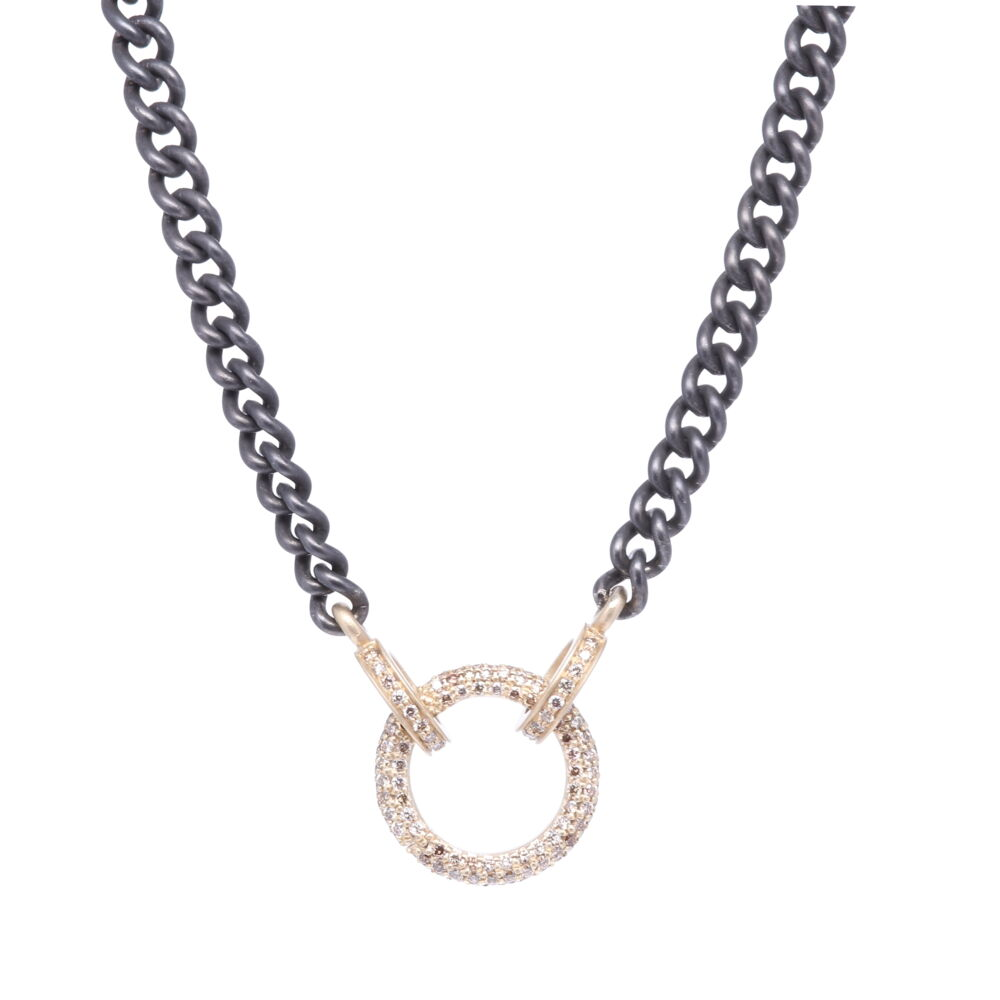 Classic Diamond Ring Display Necklace with Open-able Ring