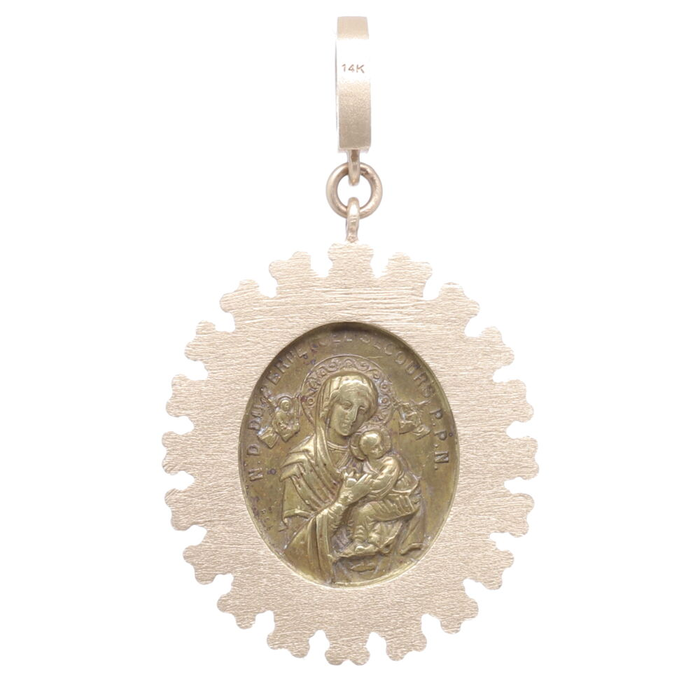 Image 2 for French Sacred Heart Surmounted with a Cross Pendant