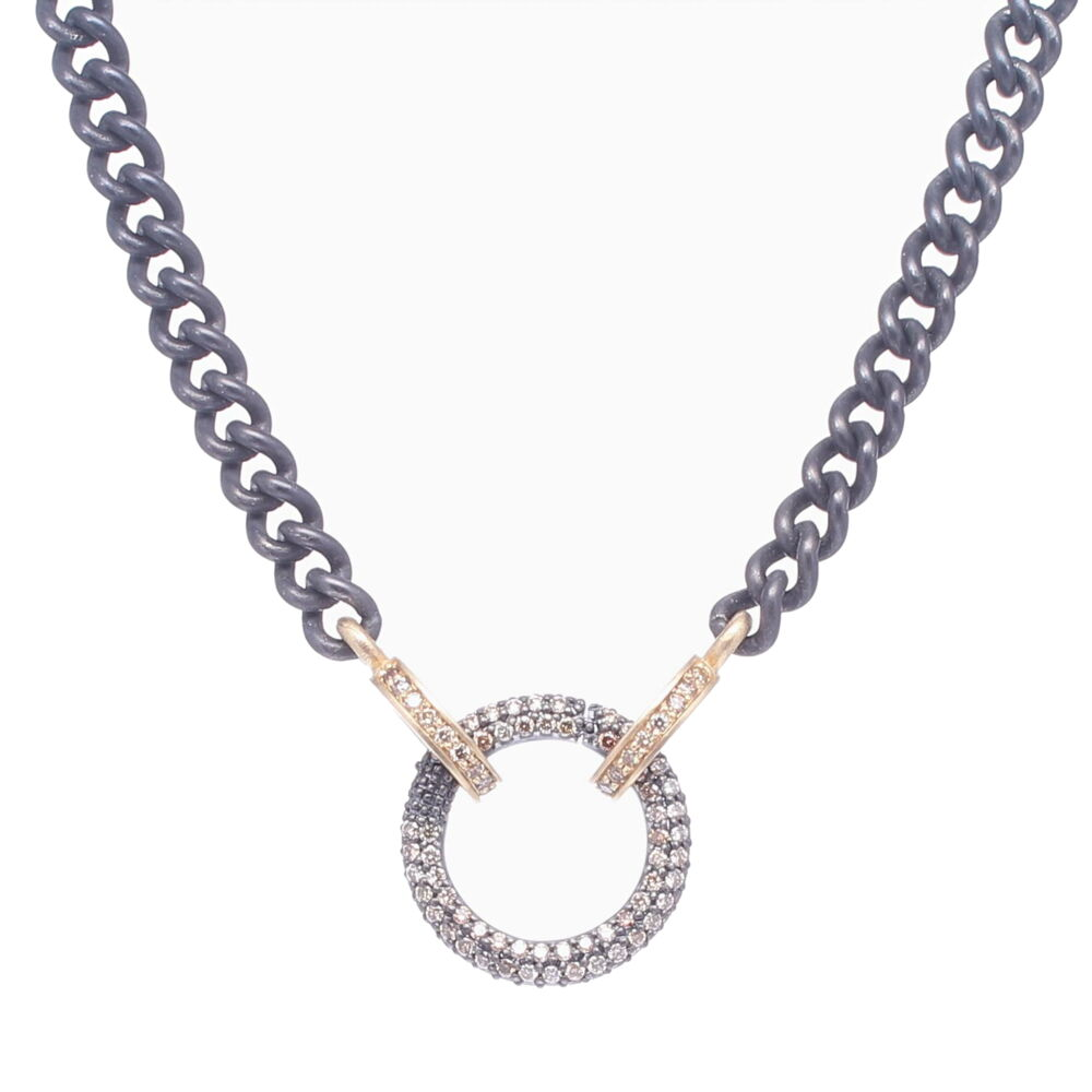 Classic Diamond Ring Display Chain with Open-able Ring