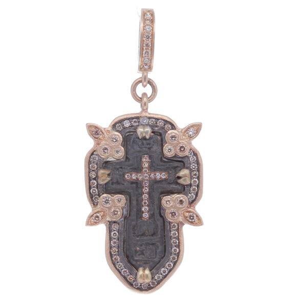 Closeup photo of Small Antique Old Believers Cross Pendant