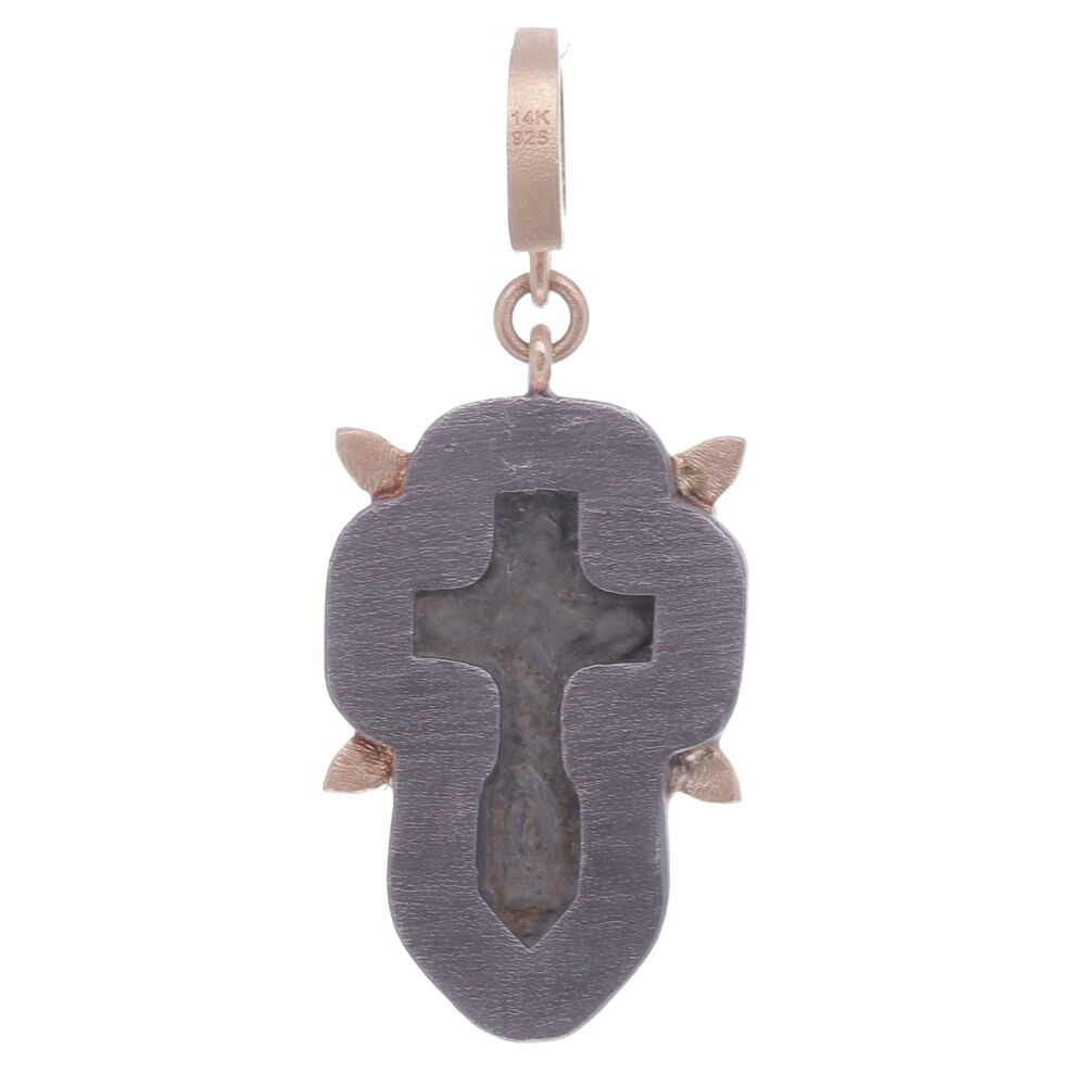 Image 2 for Small Antique Old Believers Cross Pendant