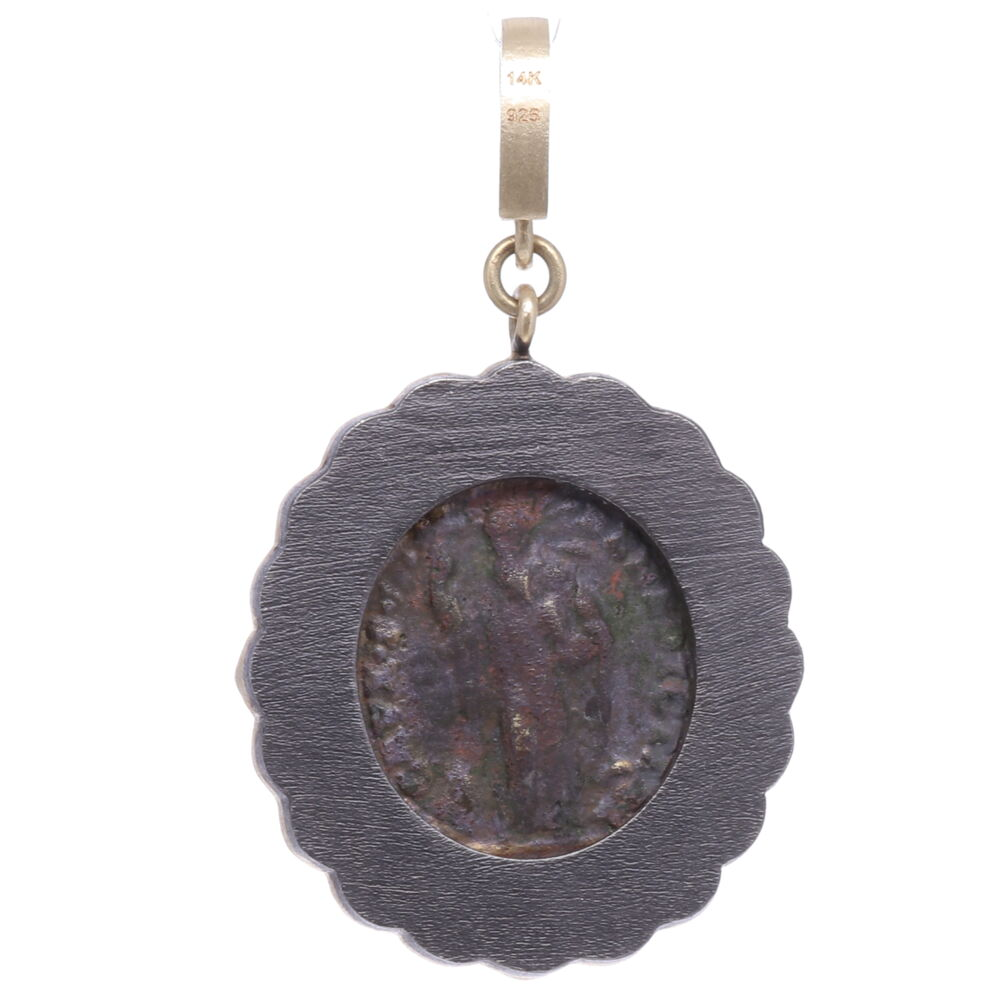 Image 2 for St. Benedict Diamond Shield Pendant