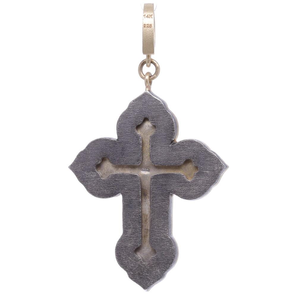 Image 2 for Italian Grand Tour Red Chi Rho Micro Mosaic Cross