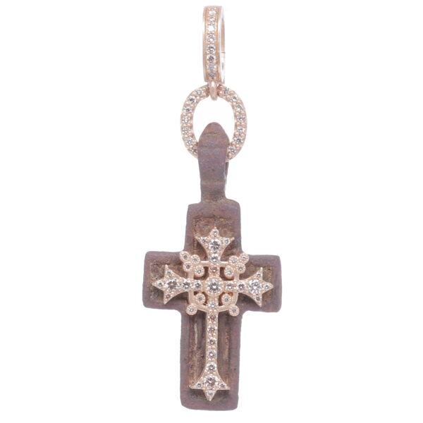 Closeup photo of Old Believers Russian Cross Pendant