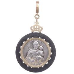 Closeup photo of European Guardian Angel Pendant with St. Joseph
