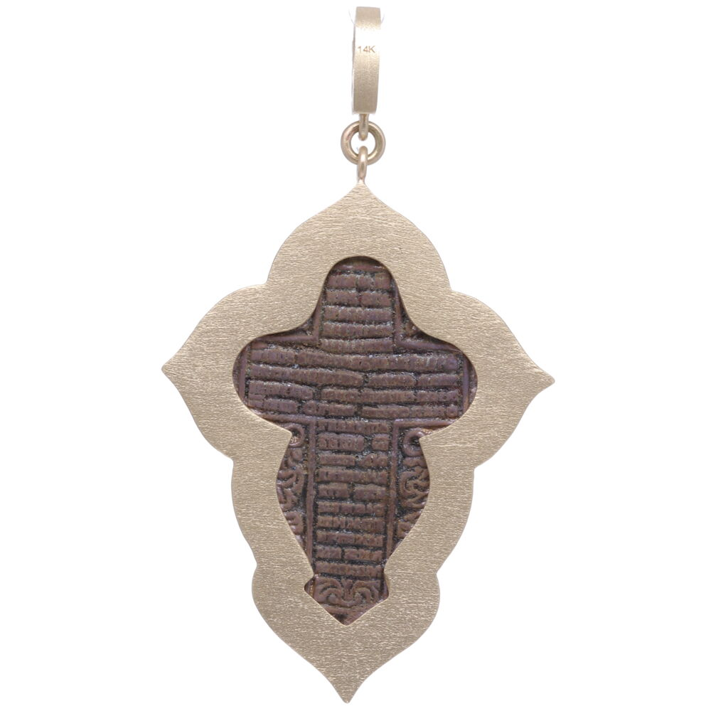 Image 2 for Large Old Believer Cross with Enamel Pendant