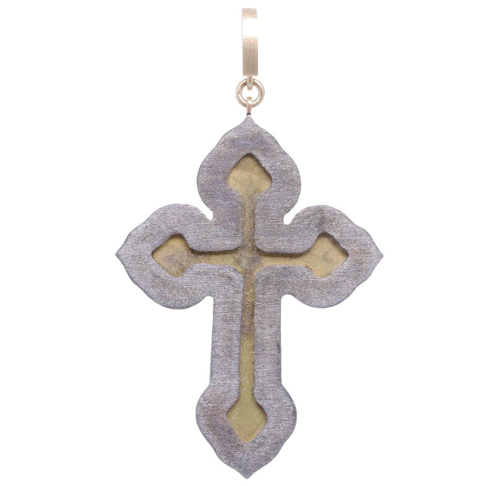 Image 2 for Italian Grand Tour Roma Micro Mosaic Cross Pendant