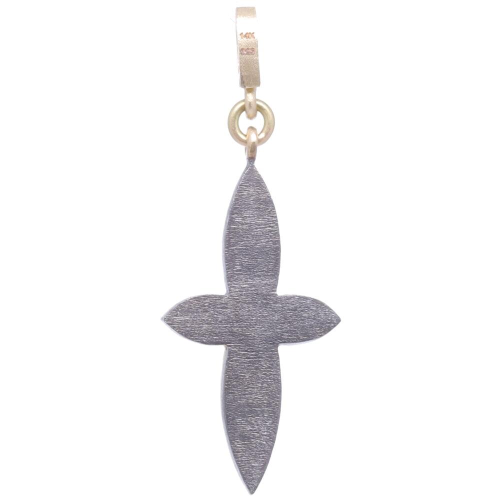 Image 2 for Small Classic Pave Diamond Cross Pendant