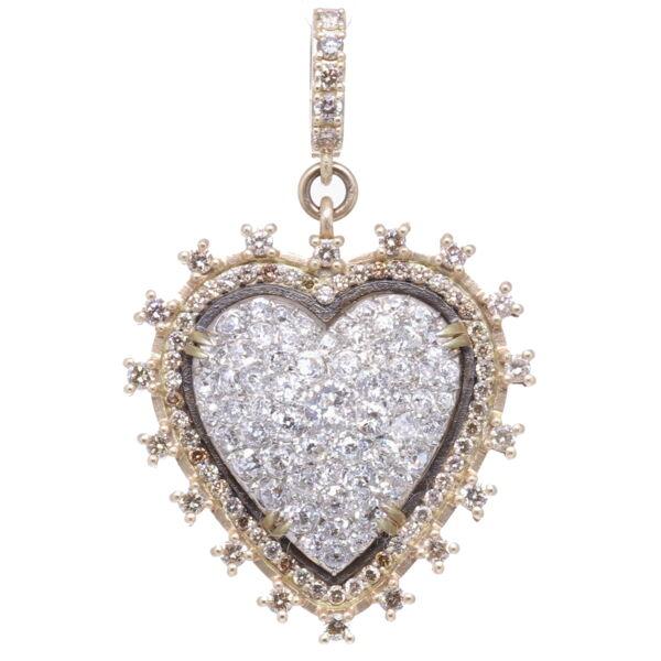 Closeup photo of Classic Diamond Heart Pendant