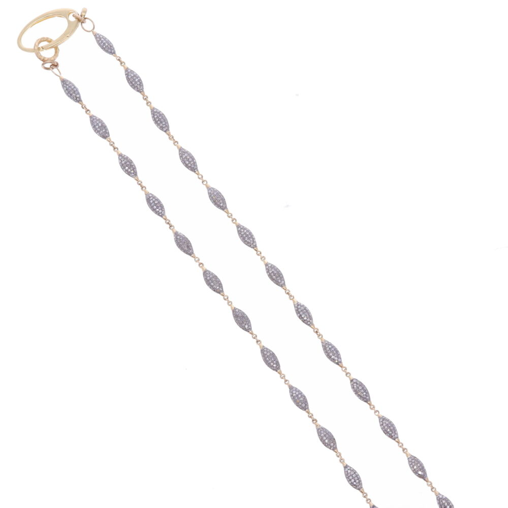 Image 2 for Small Diamond Marquis Link Chain 38""