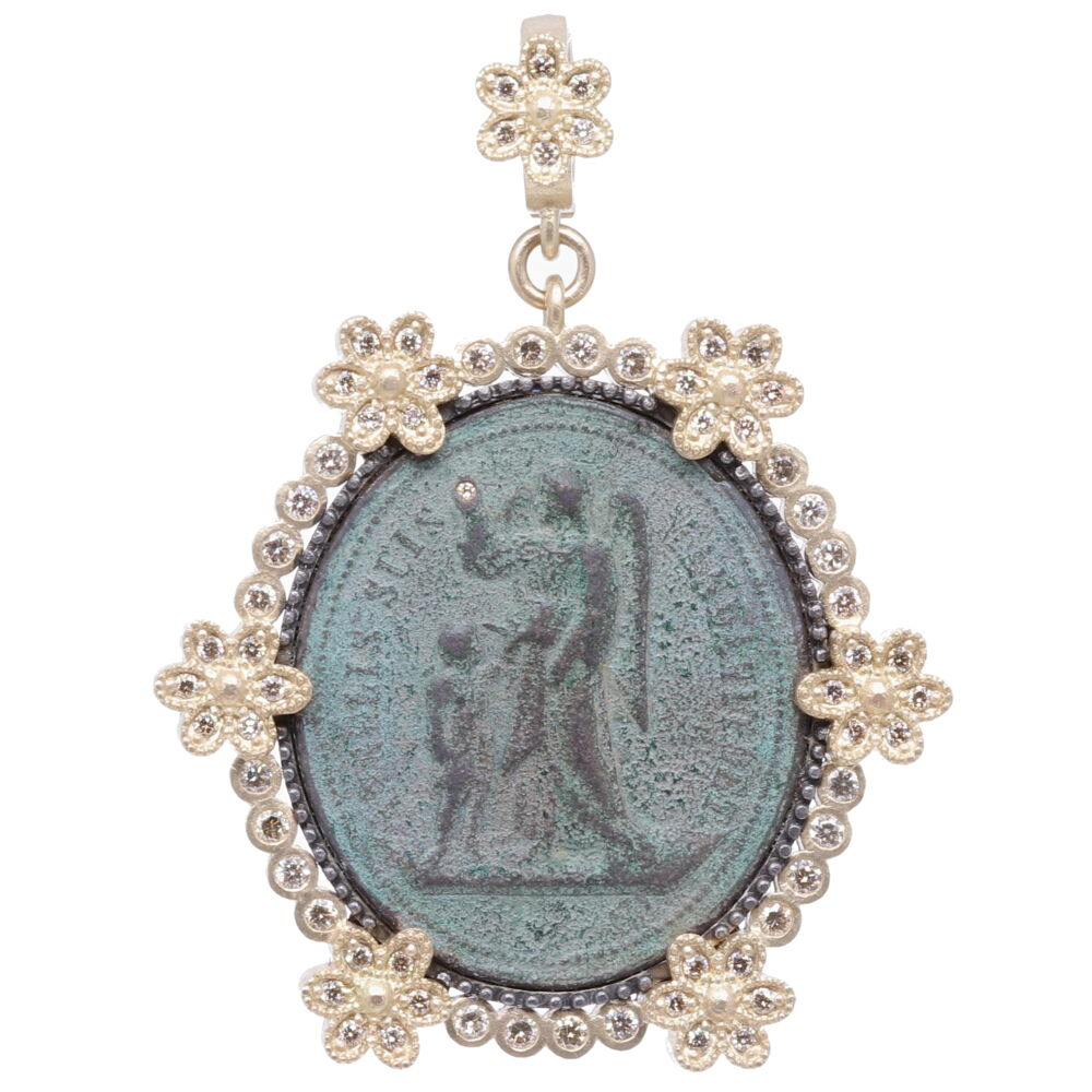 French Guardian Angel Pendant