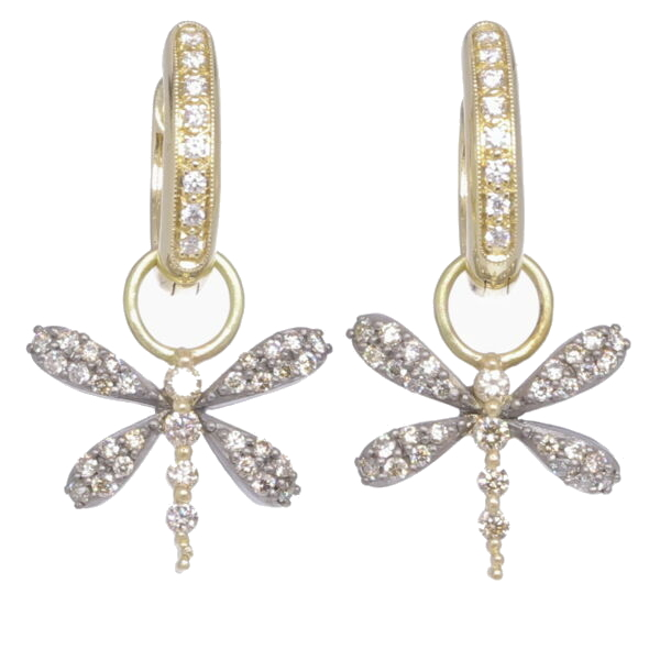 Image 2 for Dragonfly Earring Charms with Two Tone