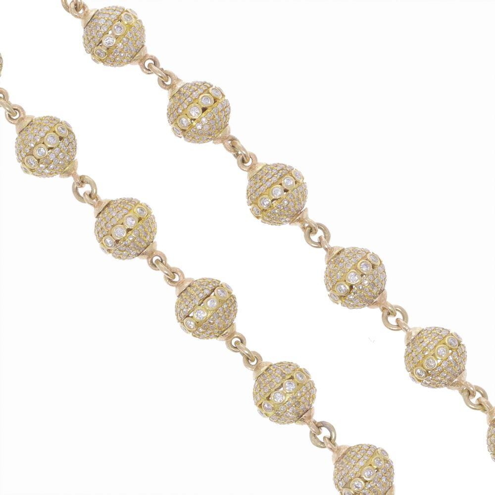 """Image 2 for Large Diamond Sphere Link Chain 26"""""""