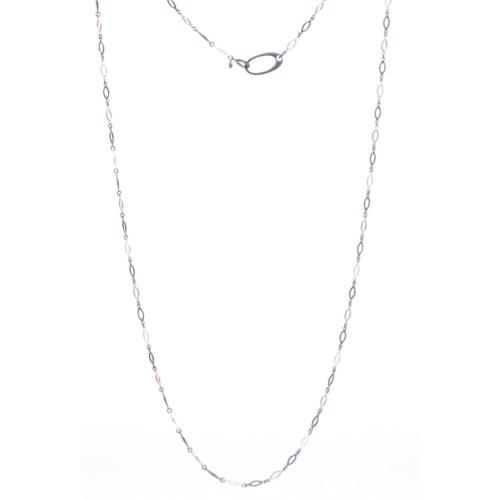 Closeup photo of Marquise Tri Colored Chain