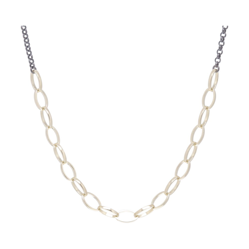 Oval Link Collar Necklace