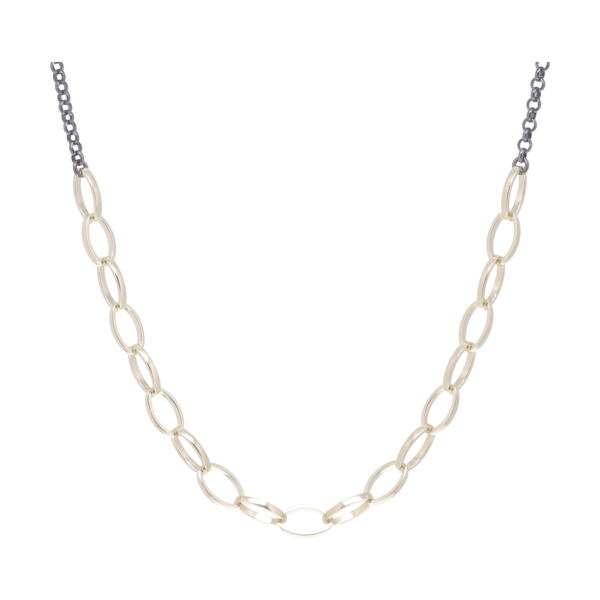 Closeup photo of Oval Link Collar Necklace