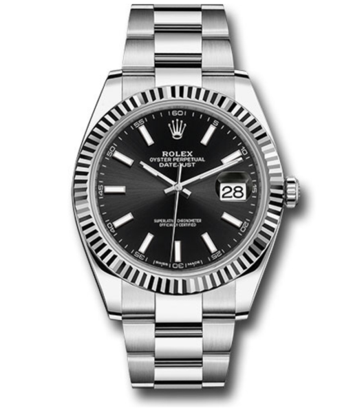Closeup photo of Rolex Oyster Perpetual Datejust 41mm Watch