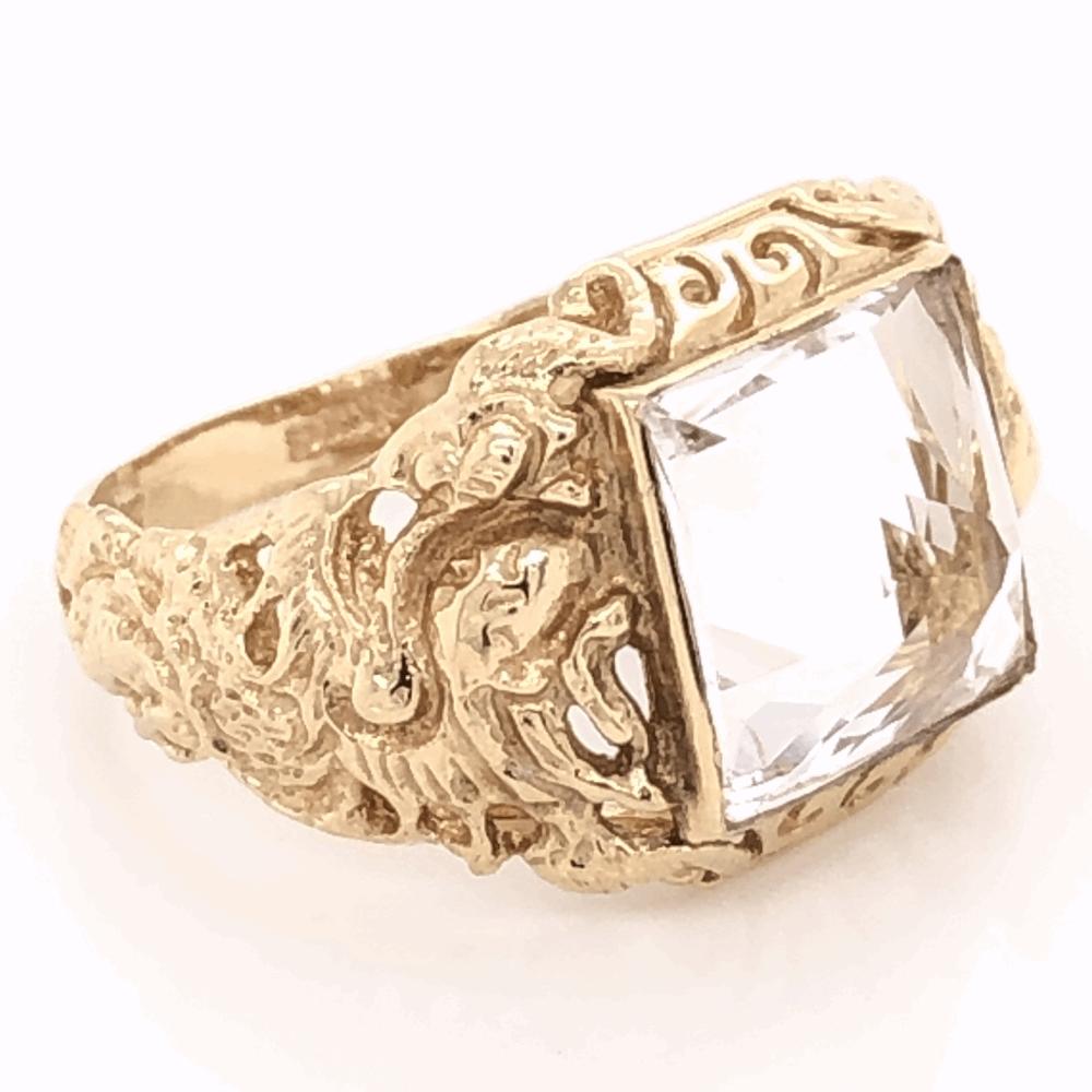 14K Yellow Gold Sanidine Feldspar Ring 5.6g