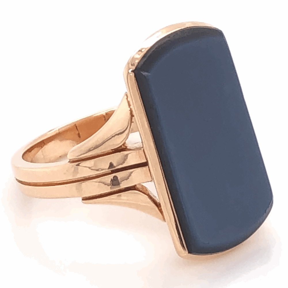 18K Yellow Gold Victorian Agate Signet Ring, c1880, s6