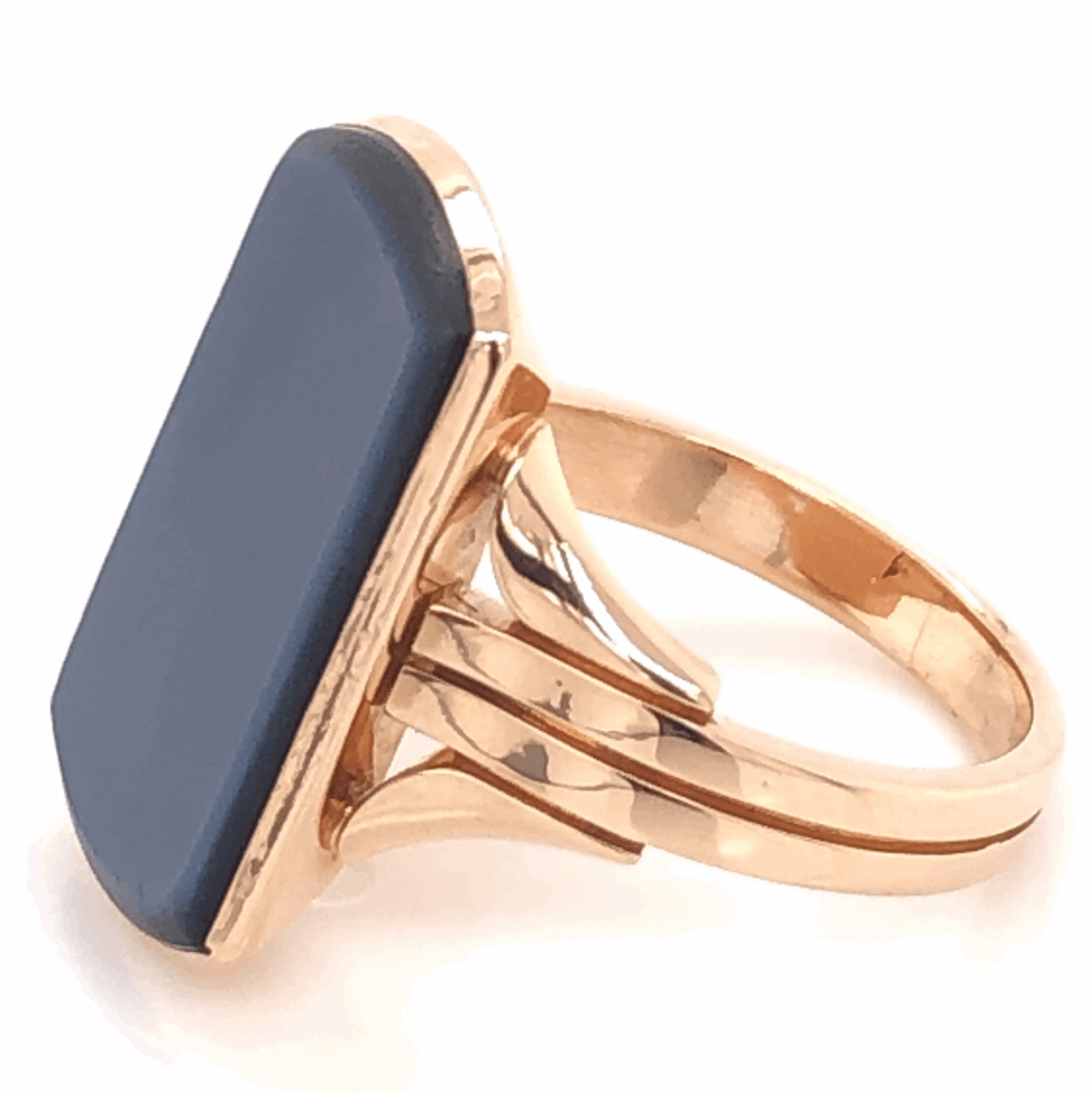 Image 2 for 18K Yellow Gold Victorian Agate Signet Ring, c1880, s6