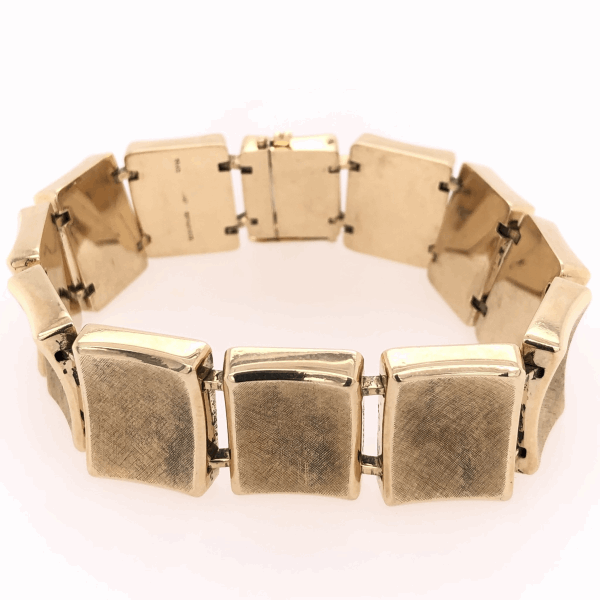Closeup photo of 14K Yellow Gold TIFFANY & CO Link Bracelet 46.9g, c1960's, 7.5x 3/4""