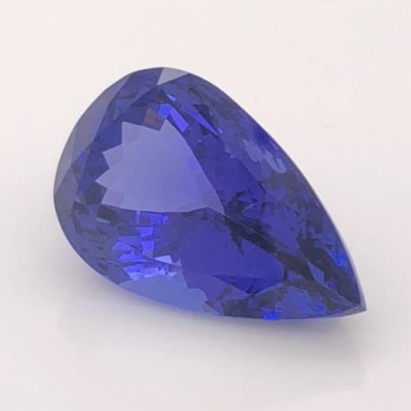 Closeup photo of 14.01ct Pear Shape Tanzanite Loose Gemstone Top Gem World Class