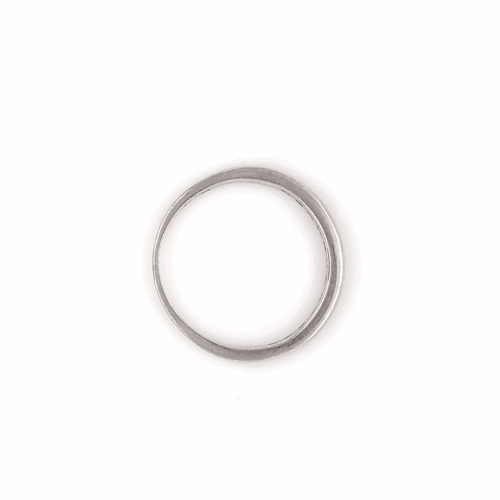 Image 2 for Platinum 12 Diamond Wedding Band Ring .15tcw, 2.1g, s5