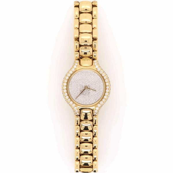 Closeup photo of 18K Yellow Gold EBEL 26mm Beluga Diamond Dial, Bezel & Lugs Ladies Watch 79.5g