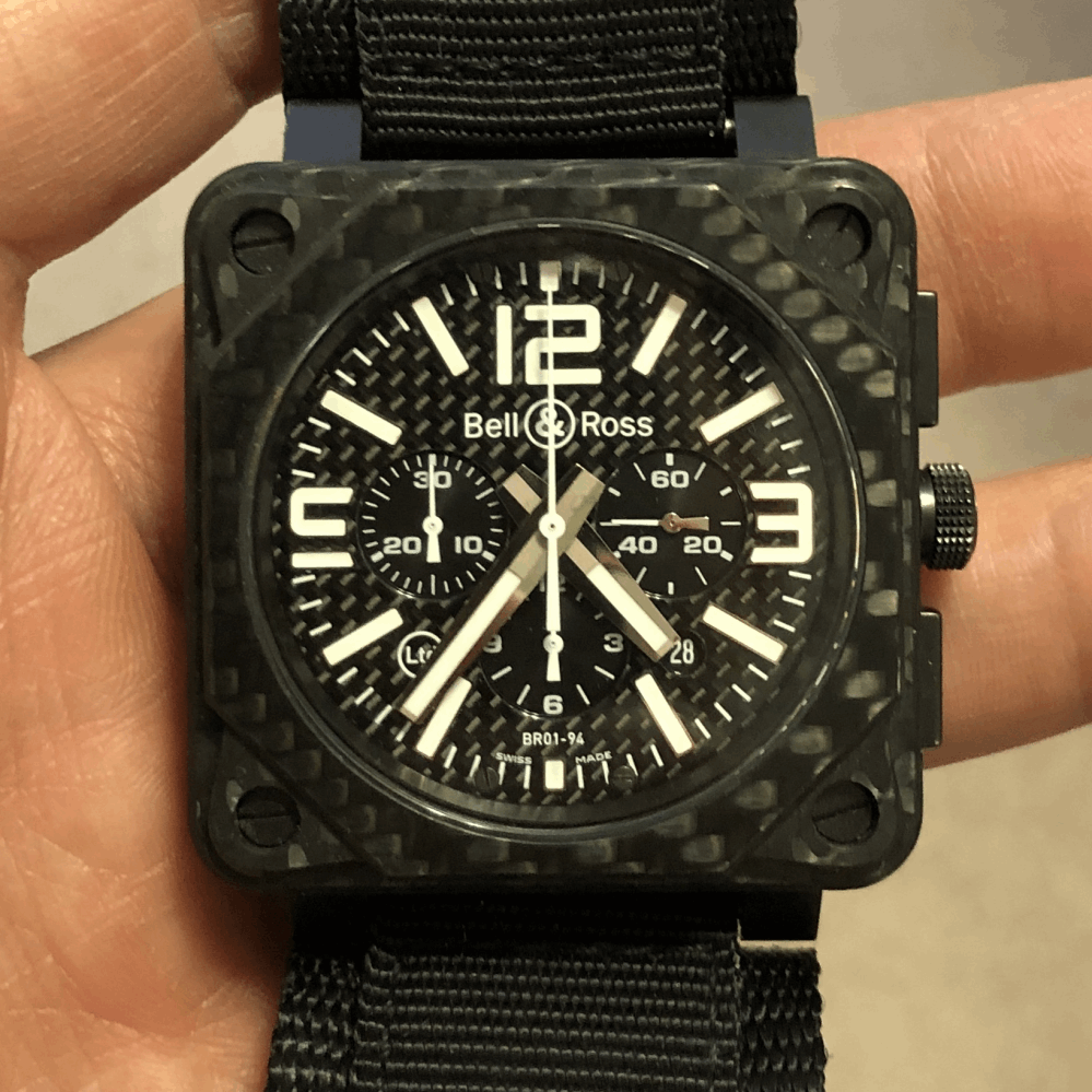 Carbon Fiber BELL & ROSS BR01-94-C 299/500 Box & Papers