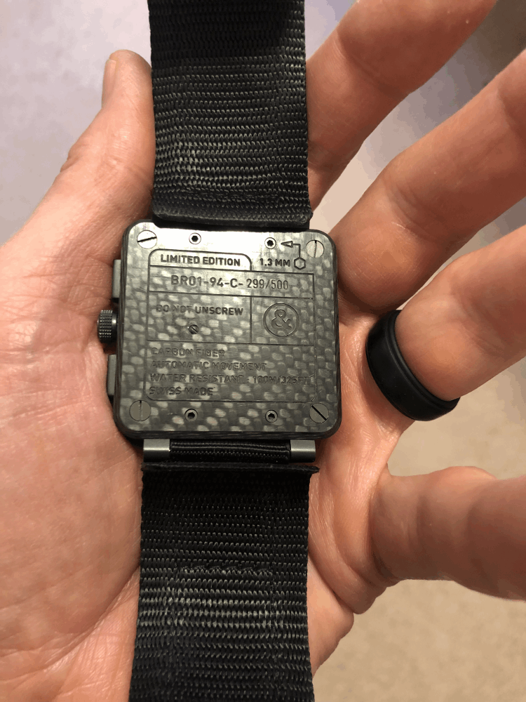 Image 2 for Carbon Fiber BELL & ROSS BR01-94-C 299/500 Box & Papers