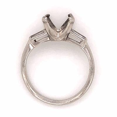 Closeup photo of Platinum Semimount 2bag diamonds= .20tcw 5.0g, s7