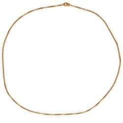 "Closeup photo of 18K Yellow Gold Medium Size Box Chain 10.3g, 19"" Long"