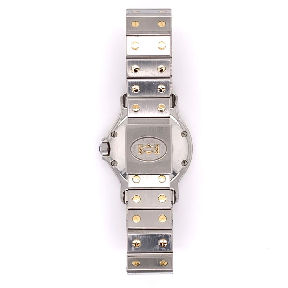 Image 2 for CARTIER SANTOS Octogan Stainless Steel & 18K Yellow Gold 2966 30mm 296632749